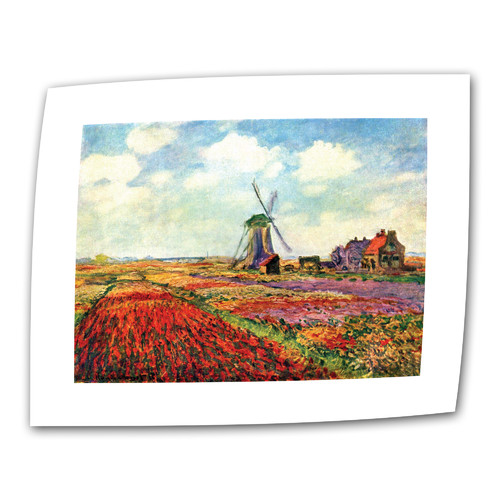 ArtWall ''Windmill'' by Claude Monet Painting Print on Canvas