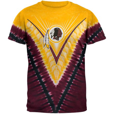 Washington Redskins Key (Washington Redskins - Logo V-Dye Tie Dye T-Shirt)