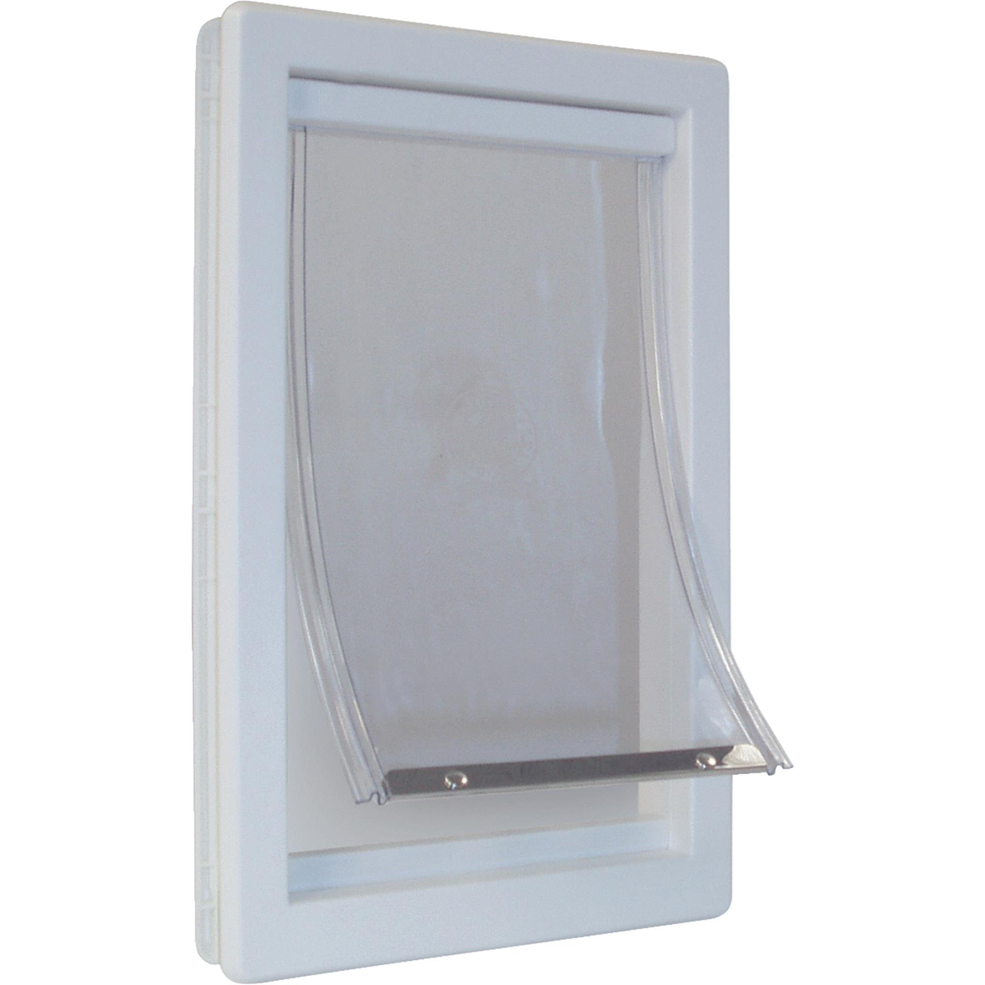 Ideal Thermoplastic Pet Door White, Extra Large for pet to 90 lbs.