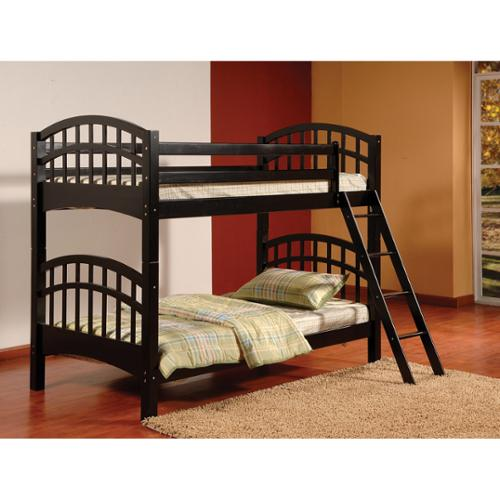 Us Tamex Corp Twintwin Wood Bunk Bed With Arched Design Walmart Com
