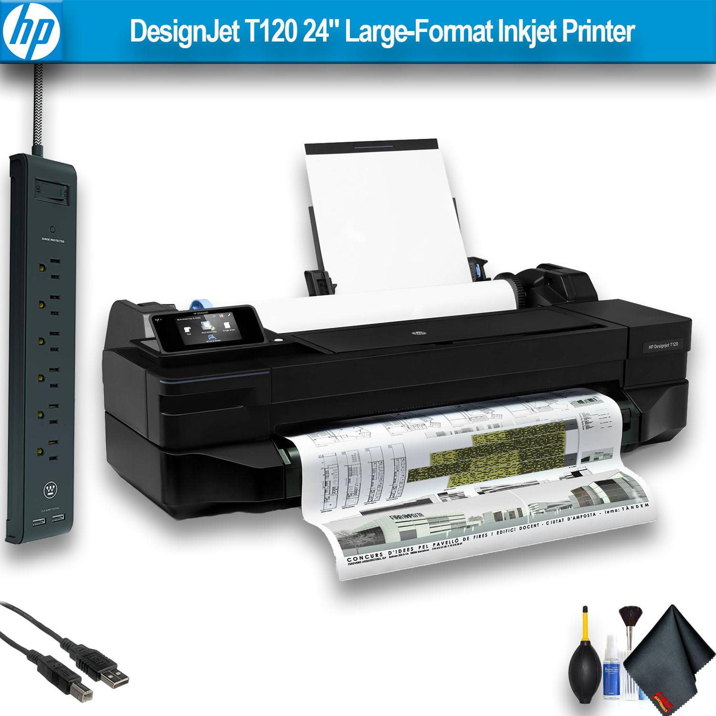 """HP DesignJet T120 24"""" Large-Format Inkjet Printer Office Bundle"""