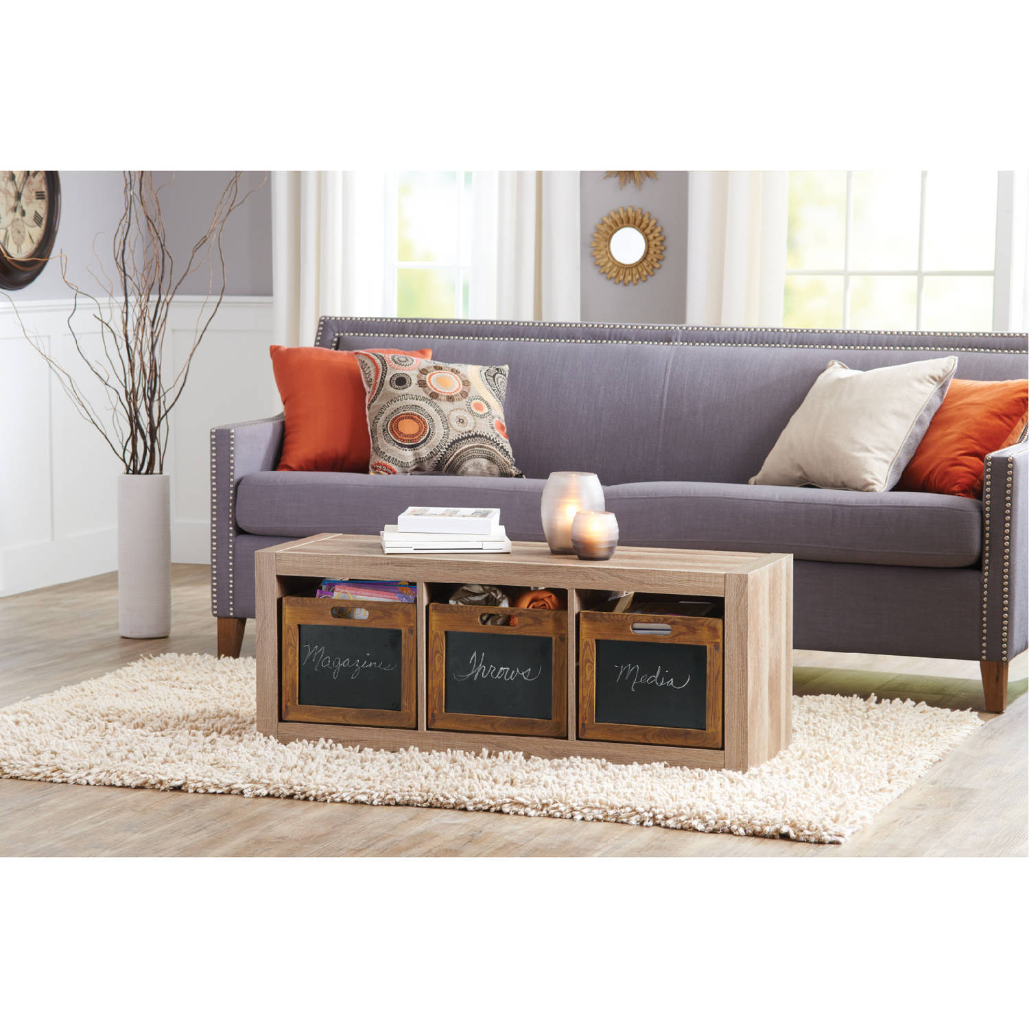better homes and gardens wood decor crate walmart com