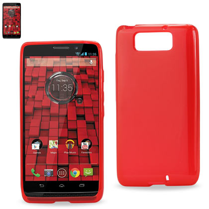 Polymer Case Contains Pearl Powder+Tpu Motorola Droid Maxx Xt-1080M Red