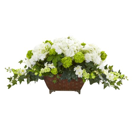 Nearly Natural Hydrangea and Ivy Artificial Arrangement