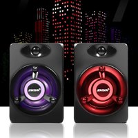 SADA Mini 2.0 Computer Speaker Colorful LED Light Heavy Bass Subwoofer USB2.0 Home Audio for Desktop PC / Laptop/ Cellphone