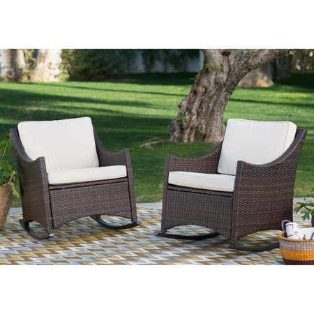 Country Style Rocker - Coral Coast Harrison Club Style Rocking Chairs - Set of 2