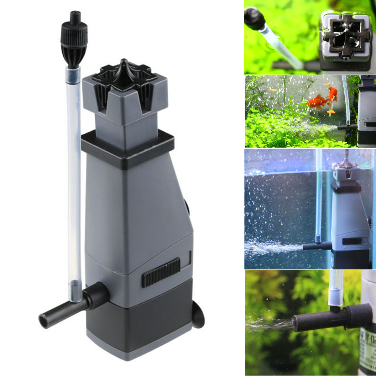 Moaere Aquarium Fish Tank Surface Skimmer Filter Plant Freshwater Marine Oil 3W 300L/H
