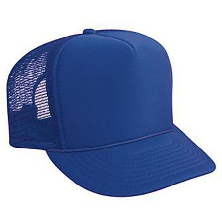 Otto Cap Polyester Foam Front High Crown Golf Style Mesh Back Caps - Hat / Cap for Summer, Sports, Picnic, Casual wear and Reunion etc - Golf Style Mesh Back Caps