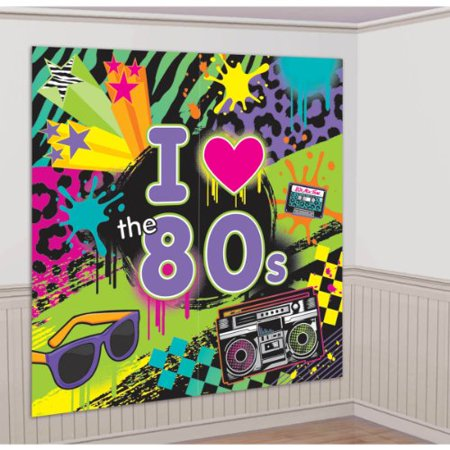 Totally 80s Giant Scene Setter Wall Decorating Kit Birthday Party (Jungle Scene Setter)