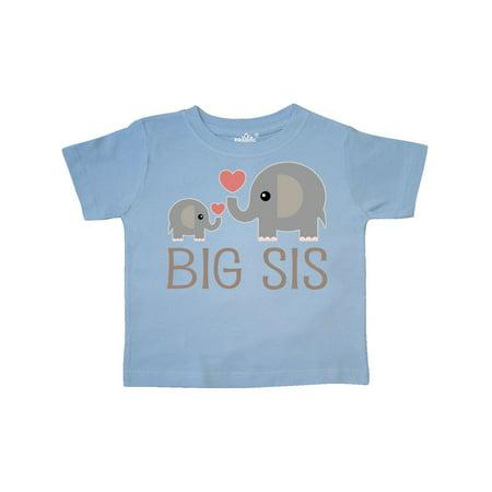 Big Sis Elephant Toddler - Elephants Parasol Art T-shirt
