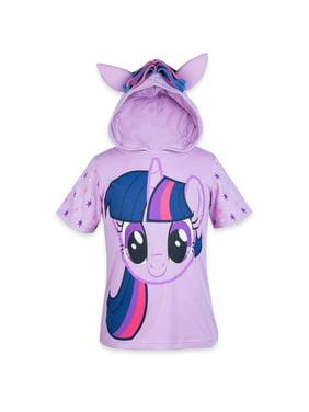 my little pony hooded shirt - rainbow dash, twilight sparkle, pinky pie - girls (twilight sparkle, 4)