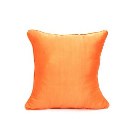 Orange Natural Silk Pillow Case Cover Cushion Cover Sofa Couch Throw 16 x 16