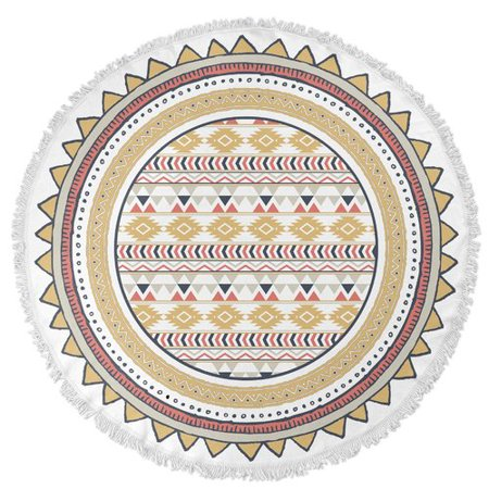 02c272d86 KAVKA DESIGNS Tribal Round Beach Towel - Walmart.com