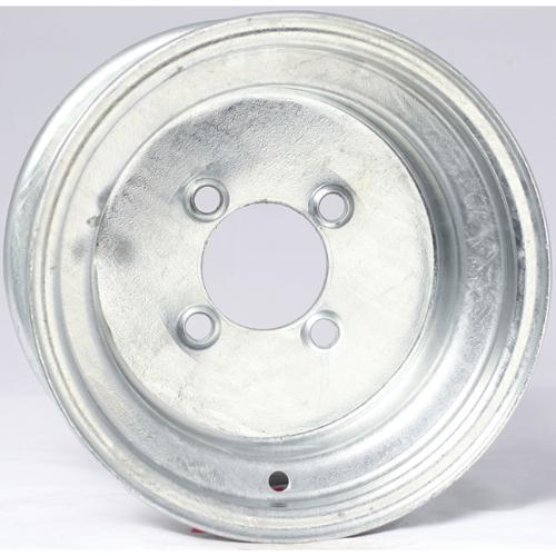 "2-Pack Trailer Wheel Galvanized Rims 10 x 6 (4 Lug On 4"") Steel"