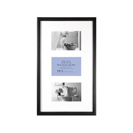 - MCS 10x17 East Village Collage Frame with Three 4x6 Openings - Black