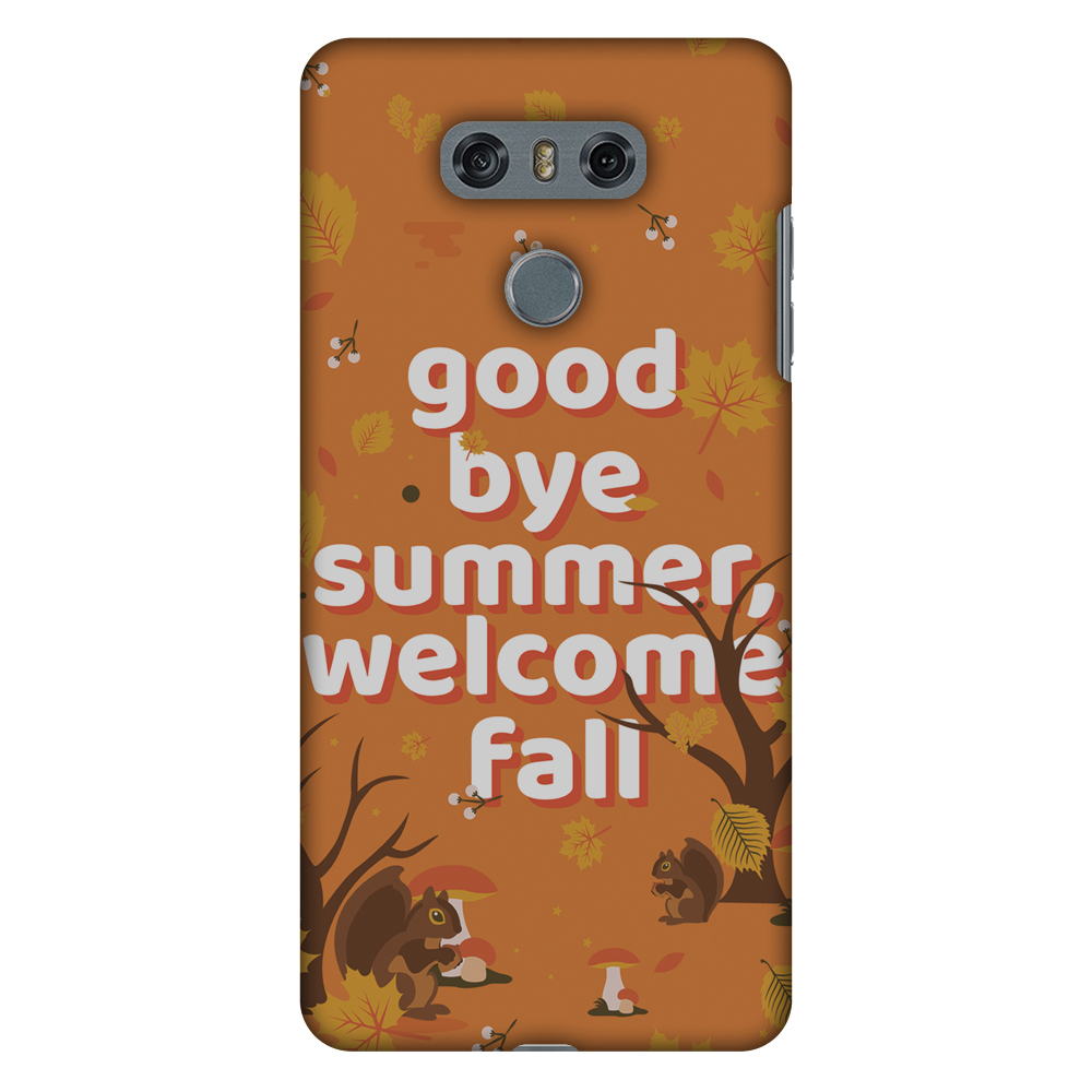 LG G6 Case, Premium Handcrafted Printed Designer Hard ShockProof Case Back Cover for LG G6 - Goodbye Summer