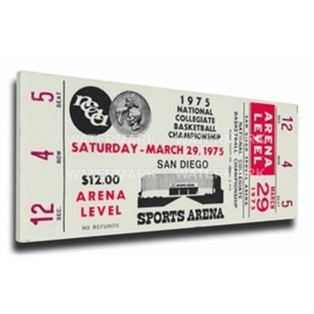 1975 Ncaa Basketball Semi Finals Canvas Mega Ticket   Ucla Bruins