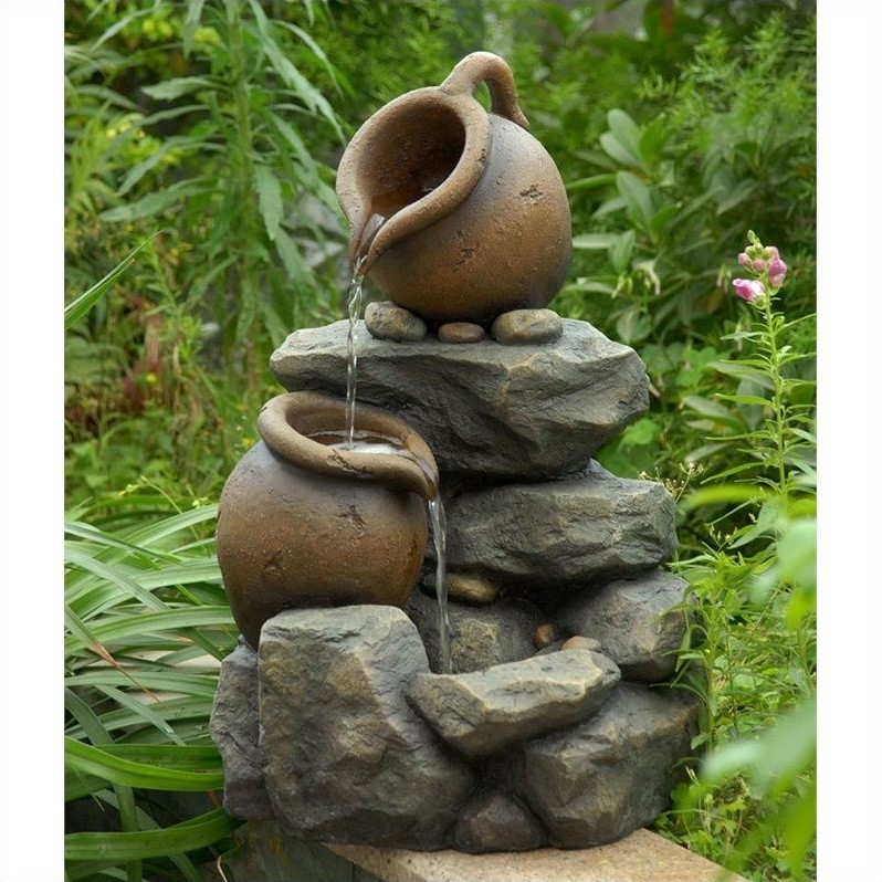 Jeco Small Pots Water Fountain by Jeco Inc.