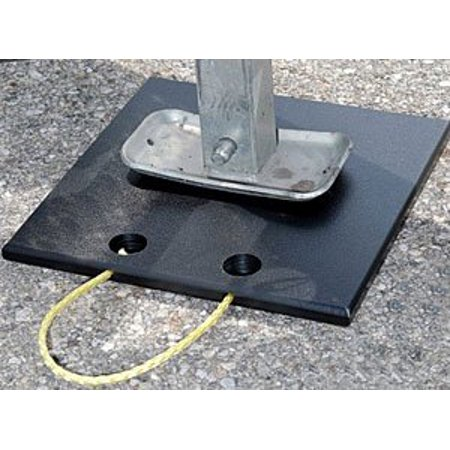 Clear One Jack Pad - 12 x 12 in Square - Plastic - Black - Each