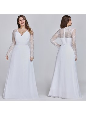 58cefd70e30 Product Image Ever-Pretty Women s Floral Lace Long Sleeve Formal Evening  Ball Gown Bridal Party Dresses for
