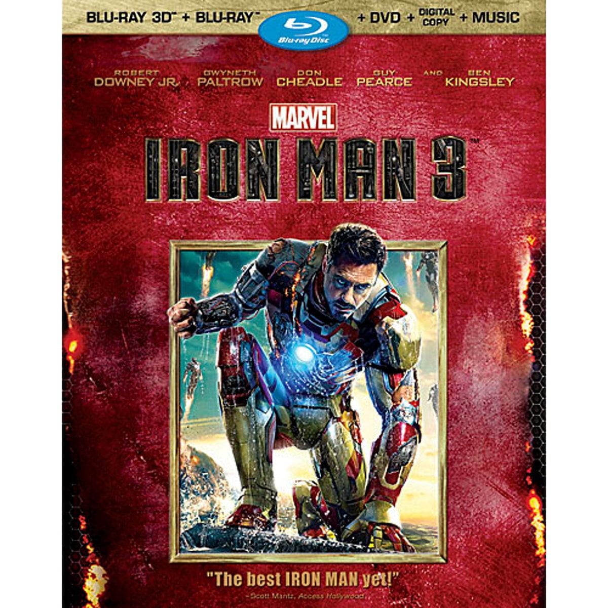 Iron Man 3 (Blu-ray 3D + Blu-ray + DVD + Digital Copy + Music)