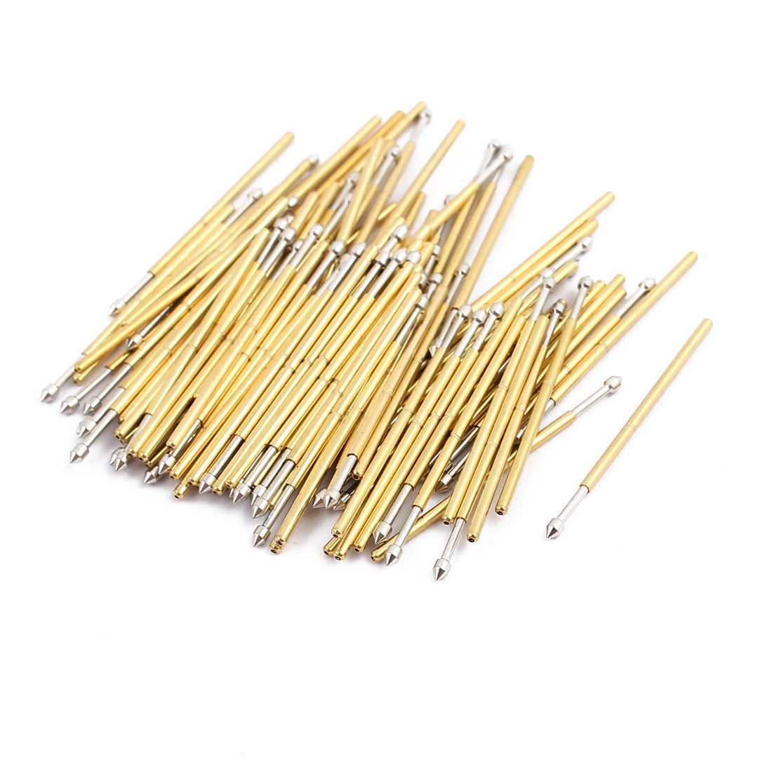 100pcs PM75-E2 1.02mm Dia 27.8mm Length Metal Spring Pressure Test Probe Needle