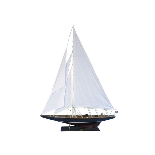Handcrafted Decor ENDEAVOUR60 Wooden Endeavour Model Sailboat Decoration, 60 in. by Handcrafted Decor