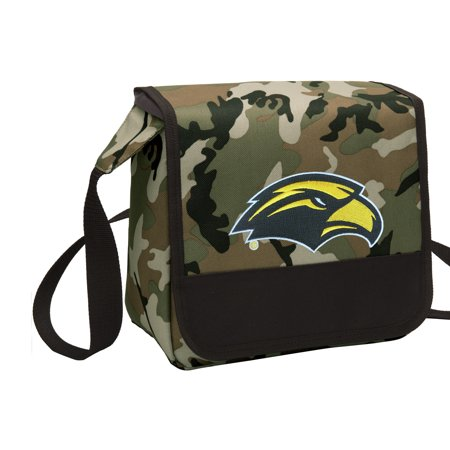 CAMO USM Southern Miss Lunch Bag Stylish OFFICIAL Southern Miss Eagles CAMO Lunchbox Cooler for School or Office - Men or