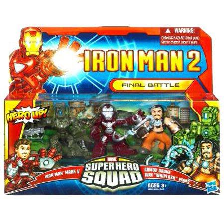 Iron Man 2 Superhero Squad Final Battle Action Figure 3-Pack (Iron Man 2 Toys)