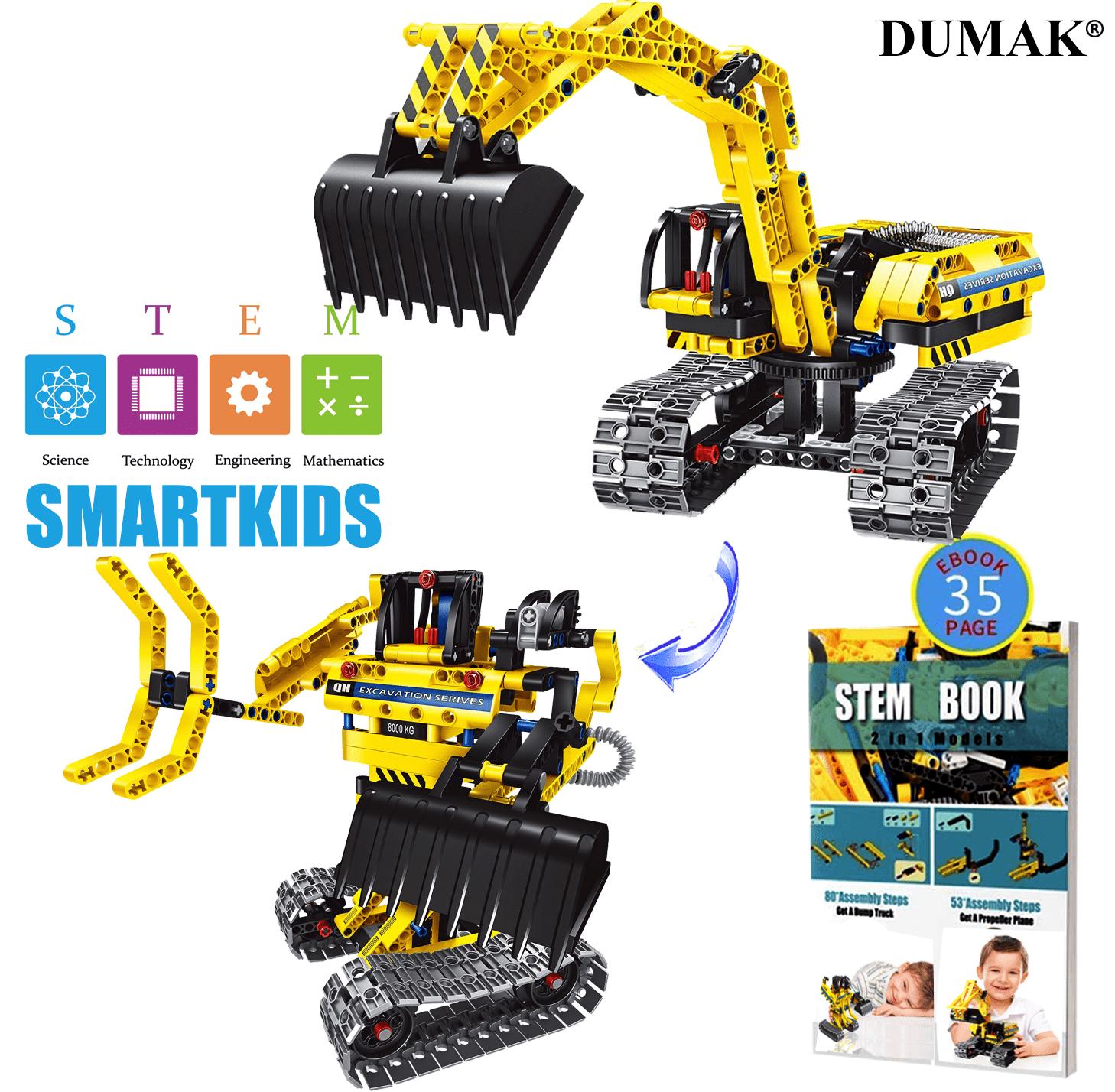 Building Blocks Set STEM Toy, 342pcs Engineering Bricks Construction Kit, Educational Building Excavator and Excavator Robot