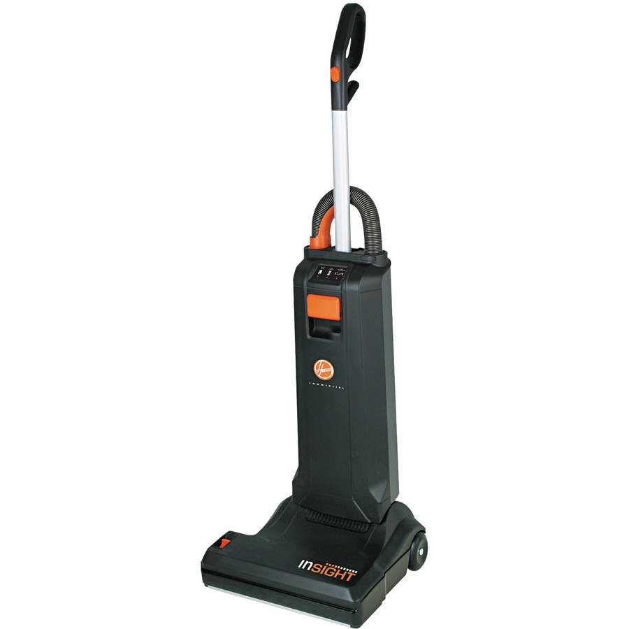 """Hoover Commercial Insight 15"""" Cleaning Path 10 A Bagged Upright 20 lb. Black Vacuum Cleaner"""