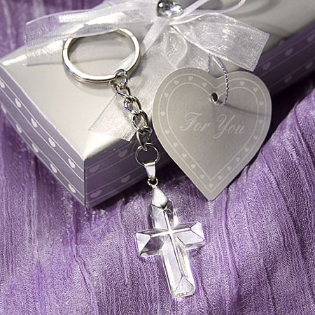 Choice Crystal Cross Key Chains - Cross Key Chains