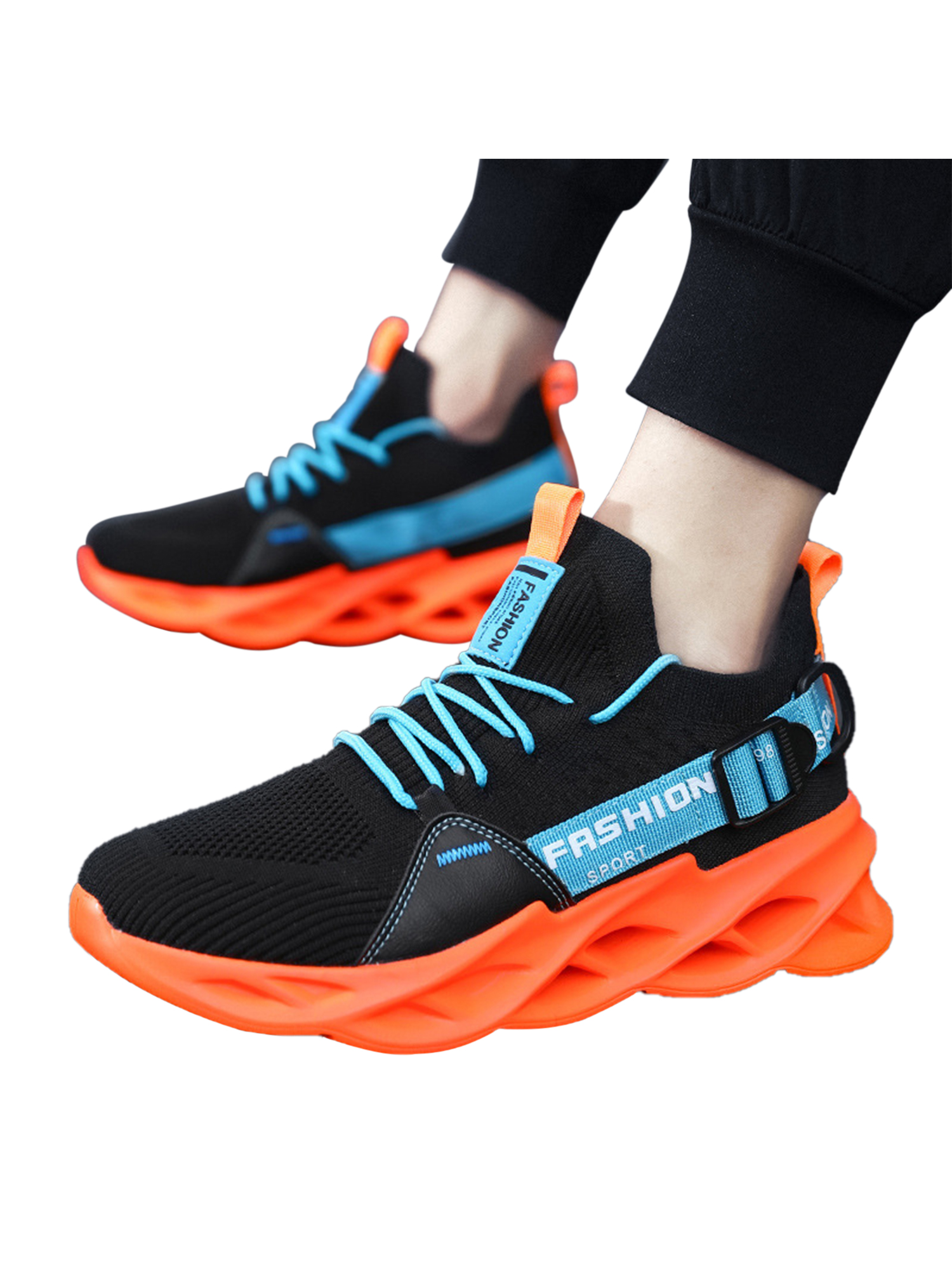 Mens Womens Sports Shoes Running Trainers Athletic Fitness Gym Lace up Sneakers