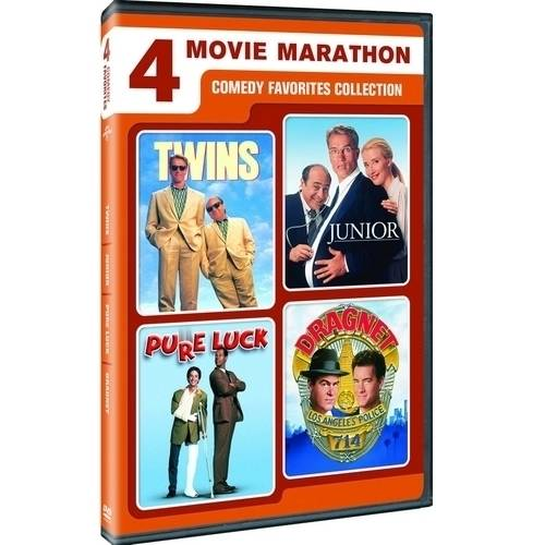 4 Movie Marathon: Comedy Favorites - Twins / Junior / Pure Luck / Dragnet