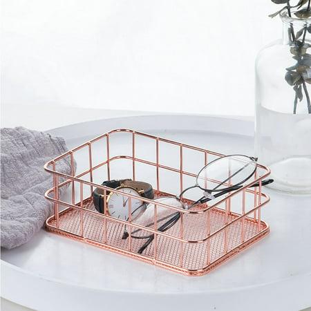 Smart Novelty Metal Storage Basket Mesh Crate Vintage Kitchen Office Storage Desk Organiser](Novelties Store)