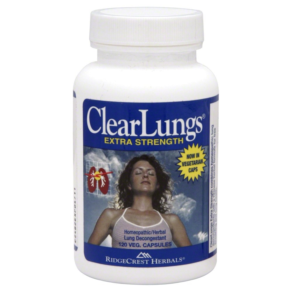 Ridgecrest Herbals ClearLungs Extra Strength Capsules, 120 Ct
