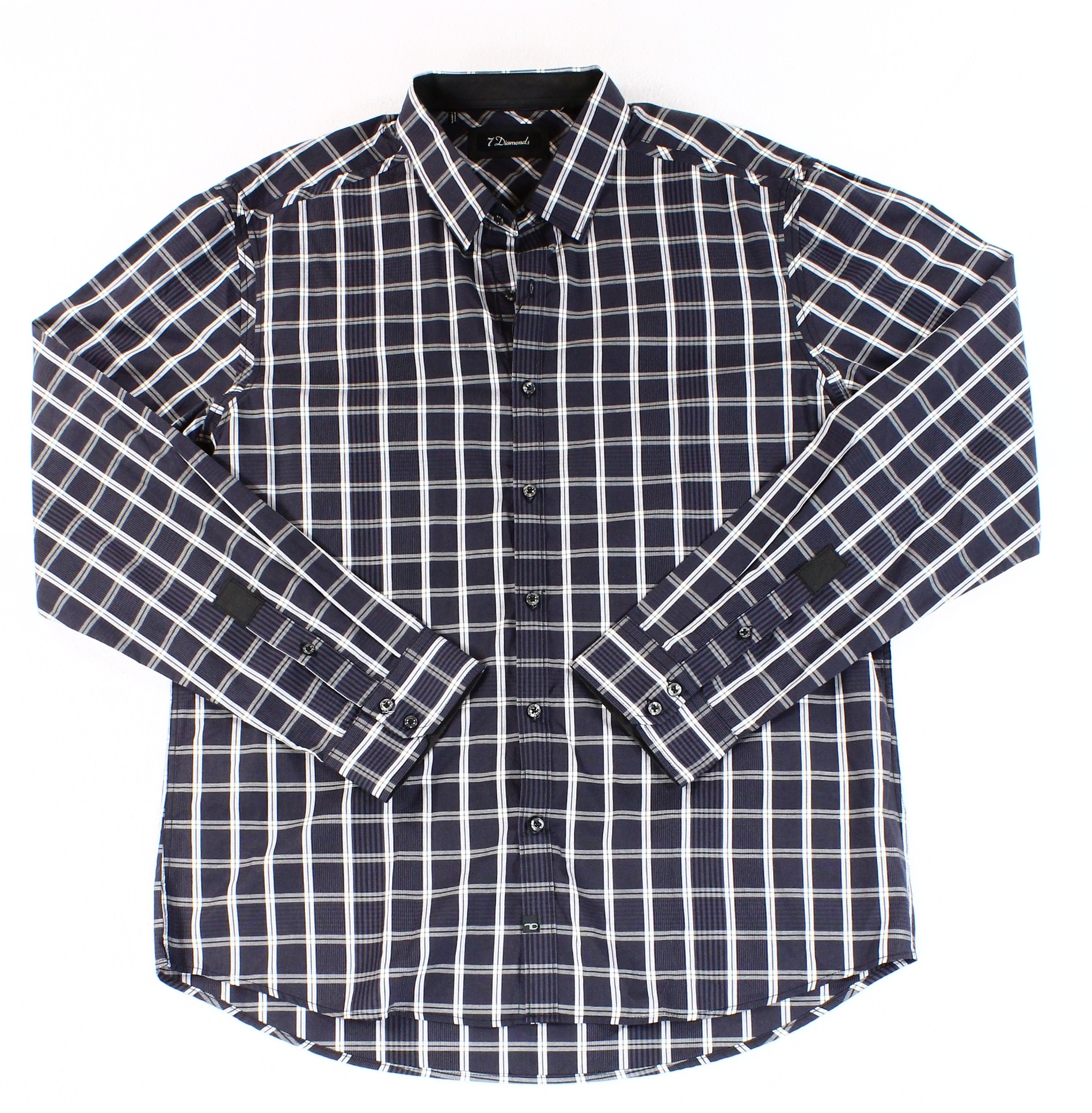 7 Diamonds NEW Black White Mens Size 2XL Button Down Shirt