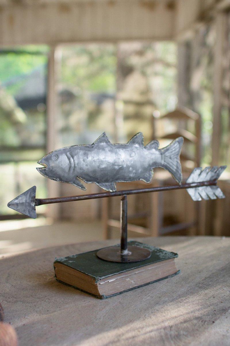 Tabletop Zinc Fish Weathervane