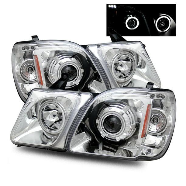 For 98 07 Lexus Lx470 Ccfl Angel Eye Halo Projector Headlights Chrome Walmart Com Walmart Com