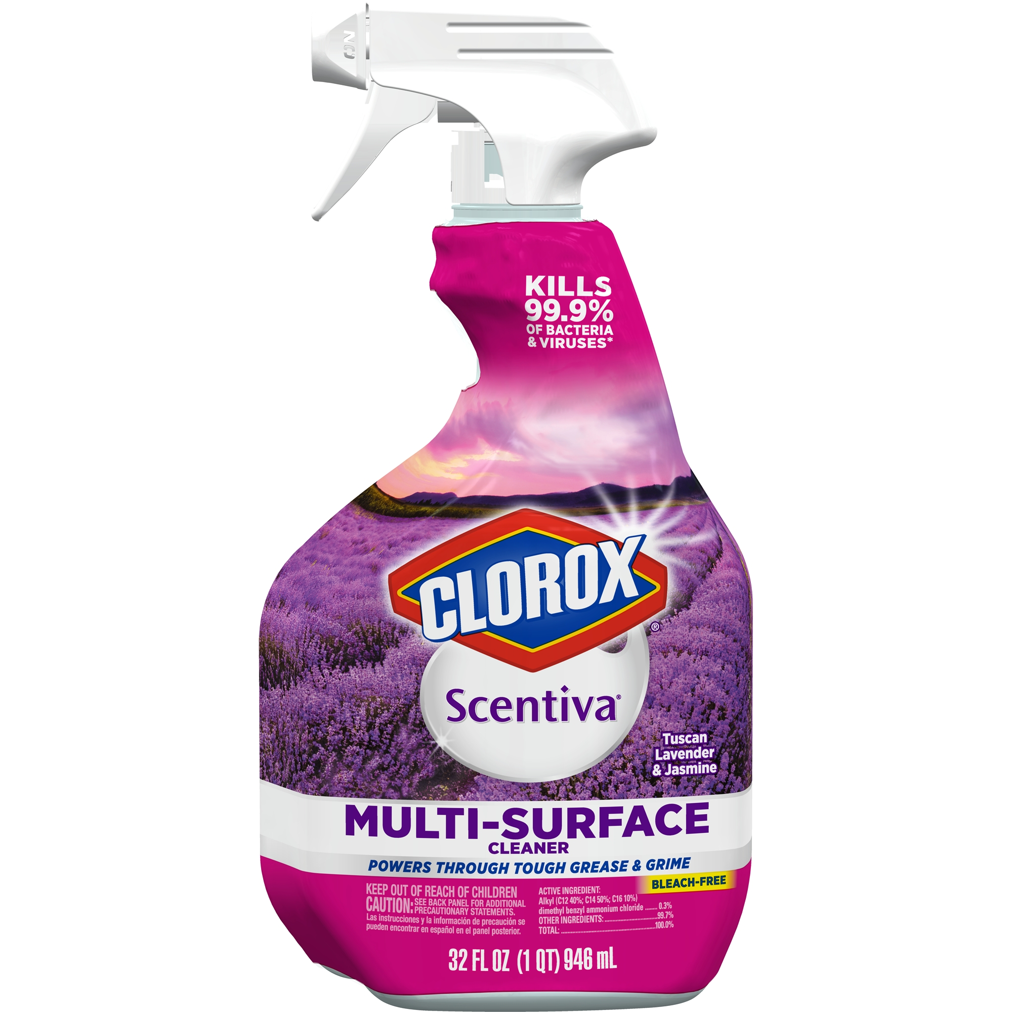 Clorox Scentiva Multi Surface Cleaner, Spray Bottle, Tuscan Lavender ...