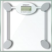 Etekcity Digital Bath Bathroom Body Weight Scale Tempered Glass up to 400 Pounds,White
