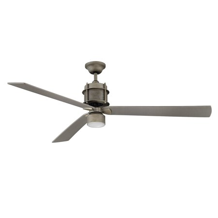 Indoor Ceiling Fans 1 Light With Aged Steel Finished Mini Bulbs 56 inch 75  Watts