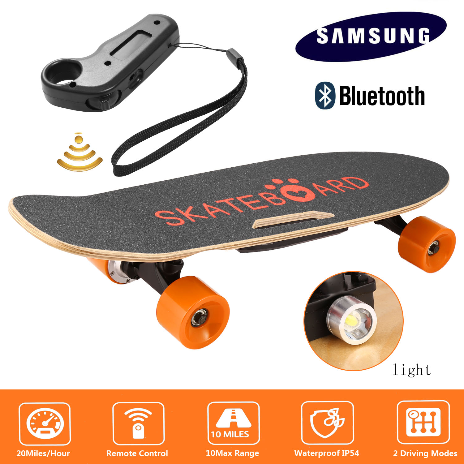 Click here to buy Clearance! Hascon Bluetooth Electric Skateboard Kit Longboard with Remote Controller,Black Electric Longboards....