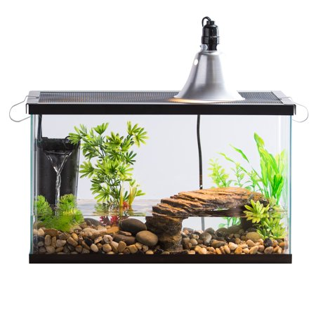 Reptile Tank (Aqua Culture 10-Gallon Turtle & Aquatic Reptile Habitat Starter Kit )