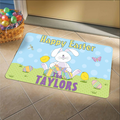 Personalized Happy Easter Doormat