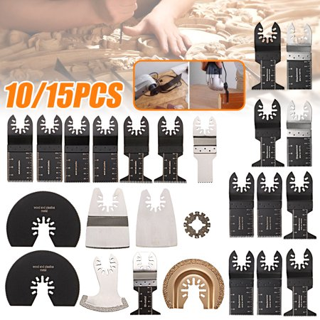 15Pcs Universal Oscillating Tool Saw Blades Fit for ROCKWELL for SONICRAFTER for WORX Multitool Accessory