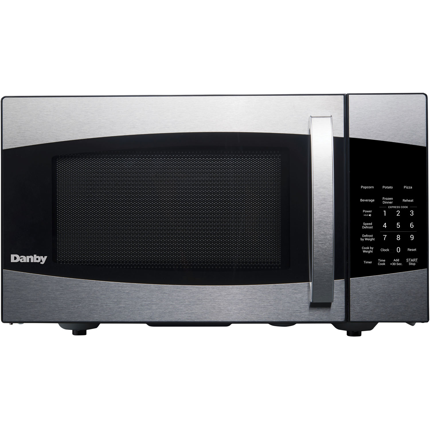 Danby 0.9-Cu. Ft. 900W Countertop Microwave Oven in Stainless/Black