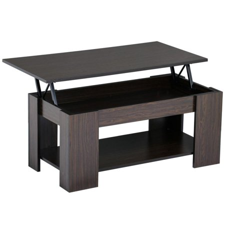 Sensational Yaheetech Lift Up Top Coffee Table With Under Storage Shelf Modern Living Room Furniture Espresso Dailytribune Chair Design For Home Dailytribuneorg
