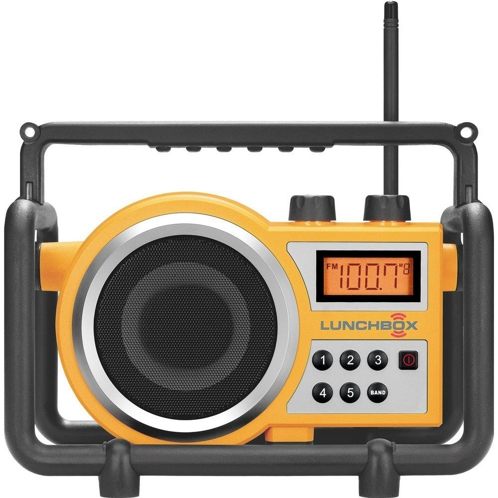 Radio Rechargeable Battery, Sangean Fm Am Handheld Rugged Receiver Radio, Yellow