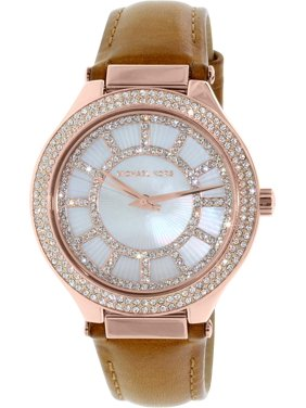8667e420ffe4 Product Image Michael Kors Kerry Mother Of Pearl Dial Leather Strap Ladies  Watch MK2421